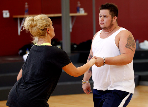 "<div class=""meta ""><span class=""caption-text "">Chaz Bono and Lacey Schwimmer rehearse for the upcoming season of ""Dancing of the Stars"" in Los Angeles, Wednesday, Sept. 7, 2011. The new season of ""Dancing with the Stars"" premieres Sept. 19 on ABC. (AP Photo/Matt Sayles)</span></div>"