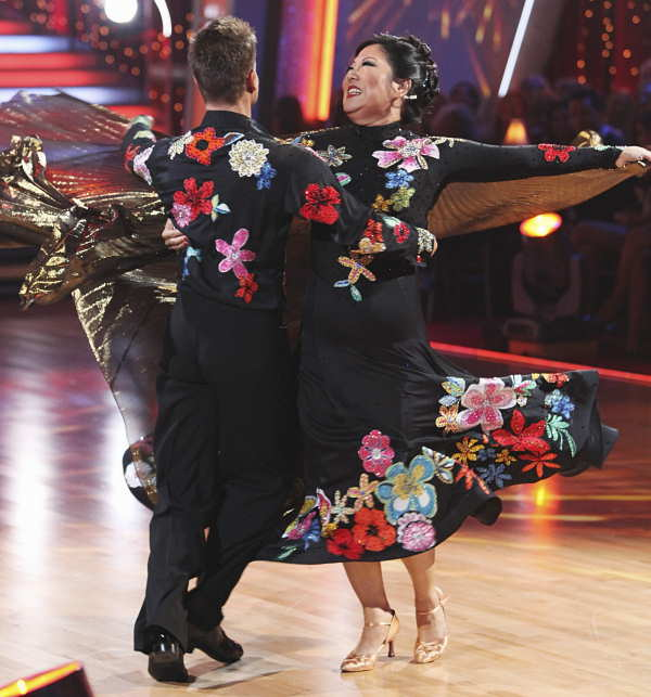 Margaret Cho and Louis Van Amstel danced a...