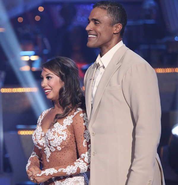 Former NBA star Rick Fox and Cheryl Burke...