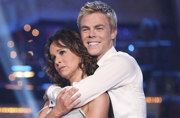 Jennifer Grey took the top scores of the night,...