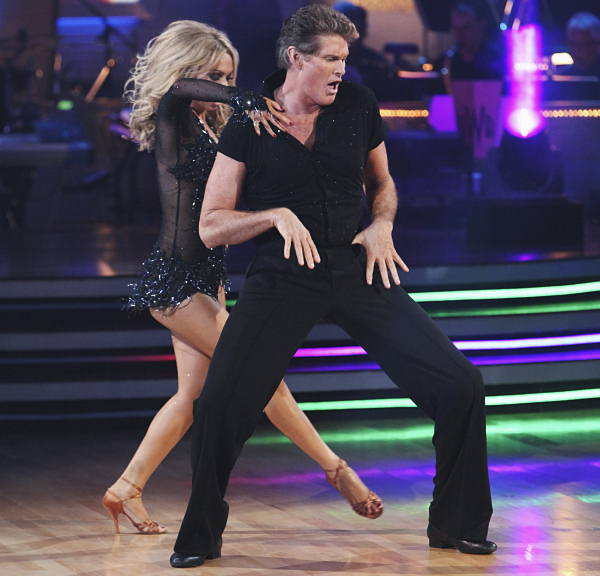 "<div class=""meta ""><span class=""caption-text "">Actor and singer David Hasselhoff became the first cast-off on Season 11 of Dancing with the Stars.  His partner was Kym Johnson.  Kym won Season 9 of Dancing with showbiz legend Donny Osmond. (ABC Photo)</span></div>"