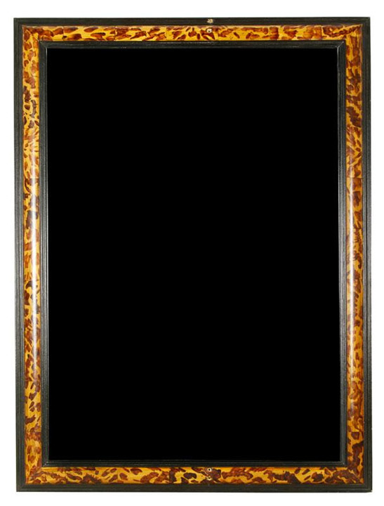 "Beveled mirror, in faux tortoise shell painted frame, 38"" h x 28"" w. Property of Oprah Winfrey. EST: $400 - $600 More Information: http://www.kaminskiauctions.com/the-oprah-winfrey-collection/"