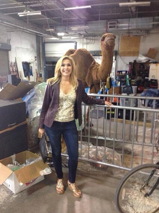 Backstage on the set of Nashville with a random camel!! The things you&#39;ll find! #6abccma <span class=meta>(@karenrogers6abc)</span>
