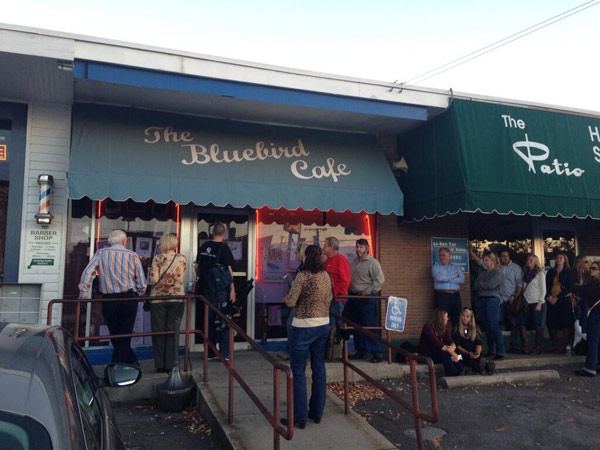 The real Bluebird Cafe!  It&#39;s just a tiny spot in a strip mall. #6abccma  <span class=meta>(@karenrogers6abc)</span>