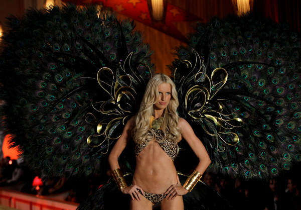 A model wears clothes from Victoria&#39;s Secret during a fashion show in New York, Wednesday, Nov. 10, 2010.  <span class=meta>(AP Photo&#47;Seth Wenig)</span>