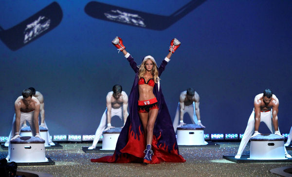 "<div class=""meta ""><span class=""caption-text "">A model wears clothes from Victoria's Secret during a fashion show in New York, Wednesday, Nov. 10, 2010.  (AP Photo/Seth Wenig)</span></div>"