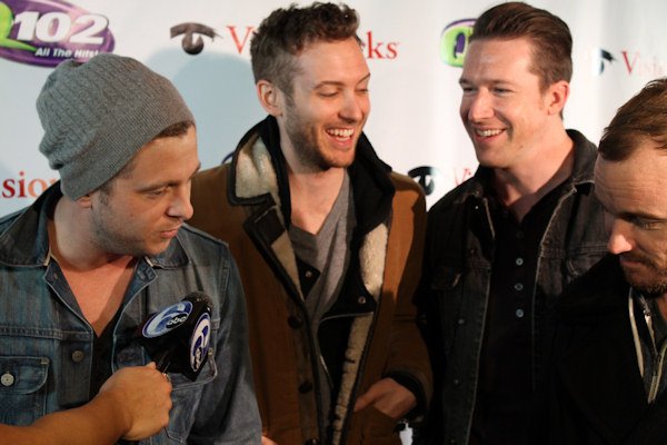 "<div class=""meta image-caption""><div class=""origin-logo origin-image ""><span></span></div><span class=""caption-text"">Action News reporter Alicia Vitarelli interviews One Republic at Q102's Jingle Ball 2012 presented by XFINITY, at Wells Fargo Center on December 5, 2012 in Philadelphia. (6abc/Brock Koller)</span></div>"