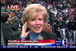 Our very own Cathy Gandolfo reported from the Wachovia Center, home of the Wing Bowl