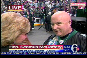 Philadelphia Judge Hon. Seamus McCaffrey was among the spectators