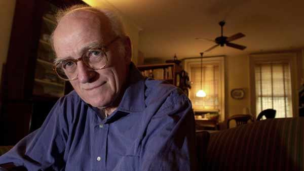 Author Donald Westlake poses in his Greenwich Village home, in the borough of Manhattan, in New York, on May 23, 2001.   Westlaked died on December 31, 2008.  (AP Photo/ Louis Lanzano)