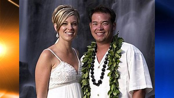 In this publicity image released by TLC, reality TV stars, Jon Gosselin, right, and his wife Kate Gosselin, from the TLC series, Jon and Kate Plus 8, are shown in Hawaii. (AP Photo/TLC, Mark Arbeit)  (AP)