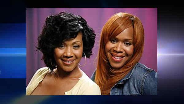 Recording artists Erica Campbell, left, and Tina Campbell of the group Mary Mary pose for a portrait, Wednesday, July 15, 2009 in New York. (AP Photo/Jeff Christensen) (AP)