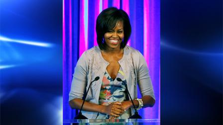 First Lady Michelle Obama is named Barbara Walters Most Fascinating Person of 2009.  In this Oct. 15, 2009 file photo, first lady Michelle Obama addresses guests during the Miami Dade College Florida Campus Compacts annual Awards Gala and Luncheon in Miami. (AP Photo/Alan Diaz, file)