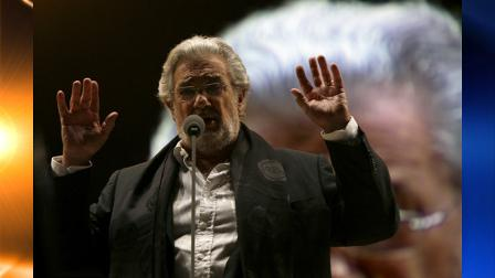 Spains tenor Placido Domingo performs during a sound check prior to a free concert in Mexico City, Saturday, Dec. 19, 2009. Domingo, who formed part of the Three Tenors with the late Luciano Pavarotti and Jose Carreras, performed in more than 120 different opera roles. (AP Photo/Marco Ugarte)