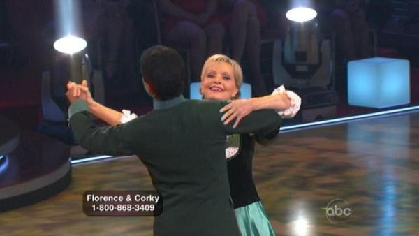 Florence Henderson and Corky Ballas scored 20 points for their Waltz.