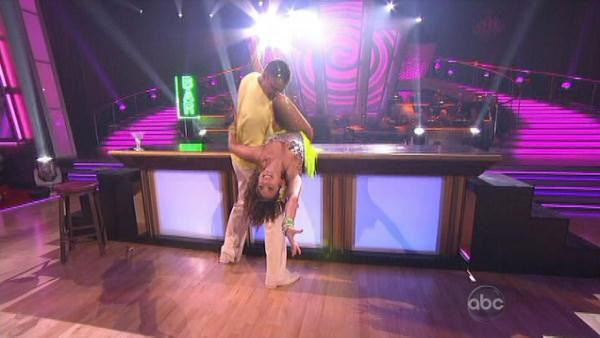 Rick Fox and Cheryl Burke scored 24 points for their Samba.