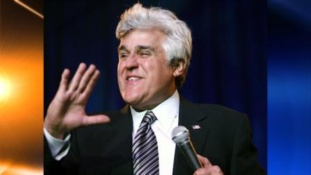 In this May 10, 2009 file photo, comedian Jay Leno performs during the Jay Leno Comedy Stimulus Plan show at the Roberts Centre in Wilmington, Ohio.  (AP Photo/David Kohl, File)