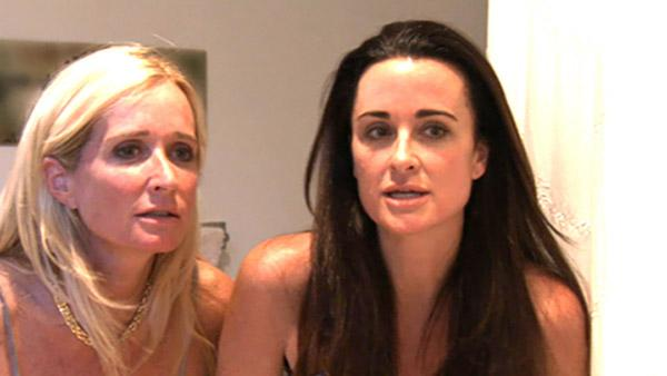 Kyle and Kim Richards appear in a scene from 'The Real Housewives of Beverly Hills.'