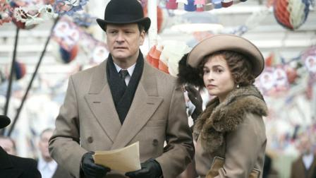 In this film publicity image released by The Weinstein Company, Colin Firth portrays King George VI, left, and Helena Bonham Carter portrays the Queen Mother in a scene from, The Kings Speech. (AP Photo/The Weinstein Company, Laurie Sparham)