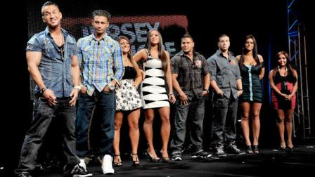 From left: Michael The Situation Sorrentino, Pauly Pauly D Del Vecchio, Deena Nicole Cortese, Sammi Sweetheart Giancola, Ronnie Fist Pump Brah Magro, Vinny Guadagnino, Jenni Jwoww Farley and Nicole Snooki Polizzi participate in the Jersey Shore panel during the 2010 MTV Networks TCA Summer Press Tour at the Beverly Hilton Hotel Friday August 6, 2010 in Beverly Hills, California. (AP Photo by Mark Davis/PictureGroup)
