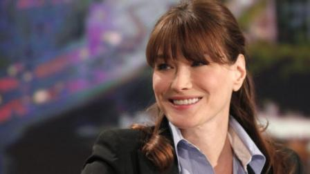 French Presidents wife Carla Bruni-Sarkozy poses is seen prior to a television interview, in Paris, Monday May 16, 2011. (Thibault Camus, pool/AP Photo)