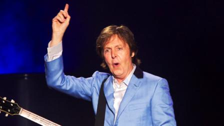 FILE - In this May 22, 2011 file photo, music legend Paul McCartney performs in Rio de Janeiro, Brazil.