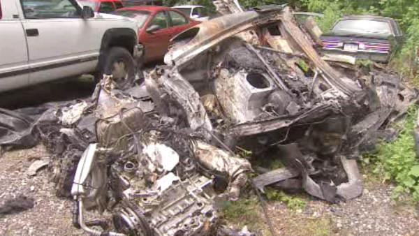 Wreckage of 'Jackass' star Ryan Dunn's car