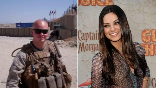 Marine's date request gets through to Mila Kunis