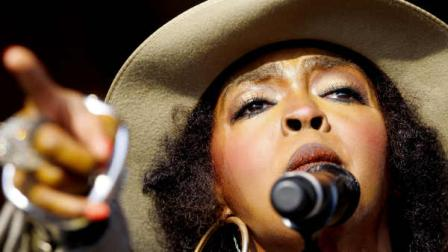 Lauryn Hill performs at the New Orleans Jazz and Heritage Festival in New Orleans, Saturday, May 7, 2011. (AP Photo/Patrick Semansky)