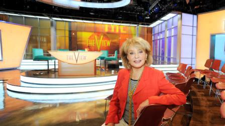 In this image released by ABC, host Barbara Walters is pictured on the new set for the daytime talkshow The View, on Thursday, Sept. 1, 2011 in New York. The show will start its 15th season on Tuesday, Sept. 6. (AP Photo/ABC, Ida Mae Astute)
