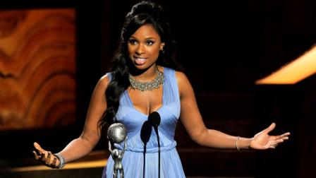 Jennifer Hudson accepts the award for outstanding album for I Remember Me at the 43rd NAACP Image Awards on Friday, Feb. 17, 2012, in Los Angeles. (AP Photo/Chris Pizzello)