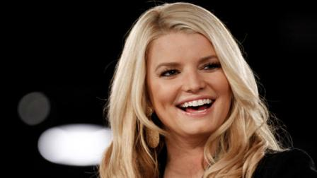 Jessica Simpson speaks onstage at Night at the Village during the Womens Conference in Long Beach, Calif., Monday, Oct. 25, 2010.