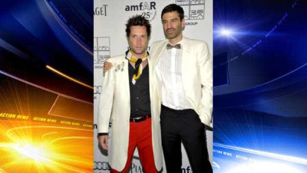Singer Rufus Wainwright and boyfriend Jorn Weisbrodt attend amfAR New Yorks Inspiration Gala celebrating Mens Style at the Museum of Modern Art on Tuesday, June 14, 2011 in New York. (AP Photo/Evan Agostini)