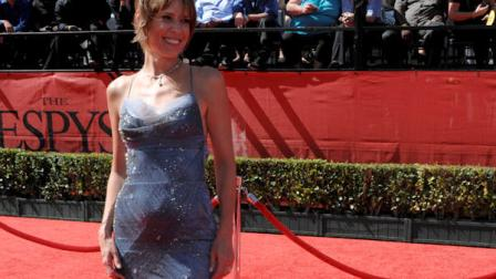Hannah Storm arrives at the ESPY Awards on Wednesday, July 14, 2010 in Los Angeles. (AP Photo/Dan Steinberg)