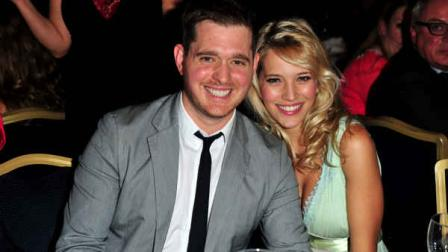 Muchael Buble and Luisana Lopilato poses at the Nordoff Robbins 02 Silver Clef Awards at London Hilton, on Friday June 29, 2012 in London. (Photo by Jon Furniss/Invision/AP)