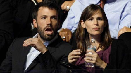 FILE - In this Aug. 27, 2008 file photo, actors Ben Affleck and Jennifer Garner are seen at the Democratic National Convention in Denver. Fewer celebrities is an emerging theme for the Democratic Convention this year. (AP Photo/Paul Sancya)