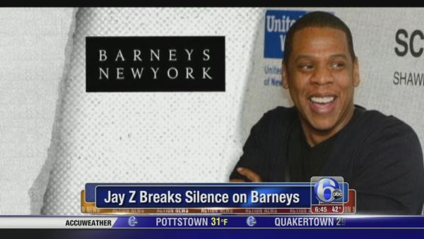 Jay Z breaks silence on Barneys