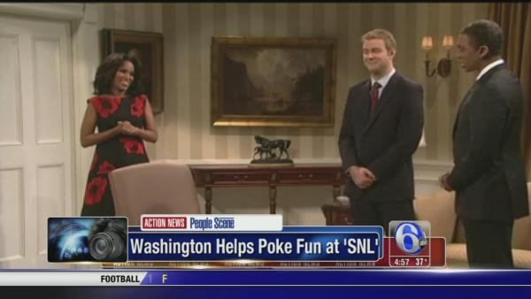 Kerry Washington helps poke fun on Saturday Night Live
