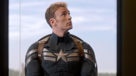 This image released by Marvel shows Chris Evans in a scene from Captain America: The Winter Soldier.