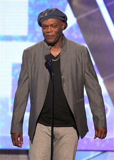 Host Samuel L. Jackson is seen on stage at the BET Awards on Sunday, July 1, 2012, in Los Angeles <span class=meta>(AP Photo)</span>