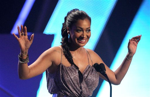 Presenter Lala Anthony is seen at the BET Awards on Sunday, July 1, 2012, in Los Angeles <span class=meta>(AP Photo)</span>