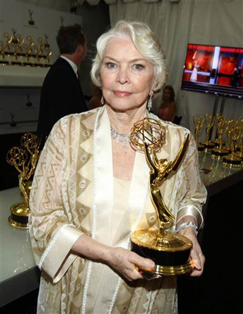 Exclusive - Ellen Burstyn, winner of the award for outstanding supporting actress in a miniseries or a movie for her role on &#34;Political Animals&#34; is seen at the trophy table at the 65th Primetime Emmy Awards at Nokia Theatre on Sunday Sept. 22, 2013, in Los Angeles.   <span class=meta>(Photo by Matt Sayles&#47;Invision for Academy of Television Arts &amp; Sciences&#47;AP Images)</span>