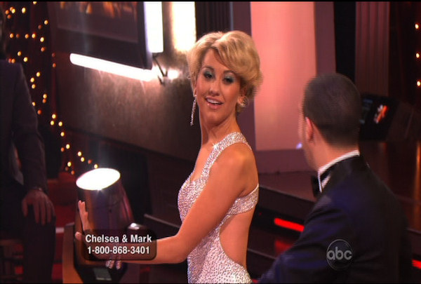 "<div class=""meta ""><span class=""caption-text "">Chelsea Kane & Mark Ballas danced the Foxtrot during Week 1 of Season 12 of Dancing with the Stars. They received a score of 21.</span></div>"