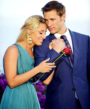 Jake Pavelka and Vienna Girardi parted ways in June 2010 after a whirlwind romance in front of the cameras during &#39;The Bachelor&#39;s&#39; 14th season. Pavelka told People magazine that he broke up with Girardi over the phone and the two had trust issues. <span class=meta>(Photo courtesy of ABC)</span>