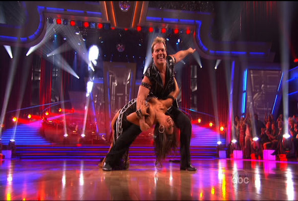 Chris Jericho & Cheryl Burke danced the Cha-Cha-Cha during Week 1 of Season 12 of Dancing with the Stars. They received a score of 19.