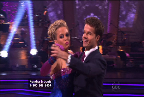 Kendra Wilkinson & Louis van Amstel danced the Cha-Cha-Cha during Week 1 of Season 12 of Dancing with the Stars. They received a score of 18.