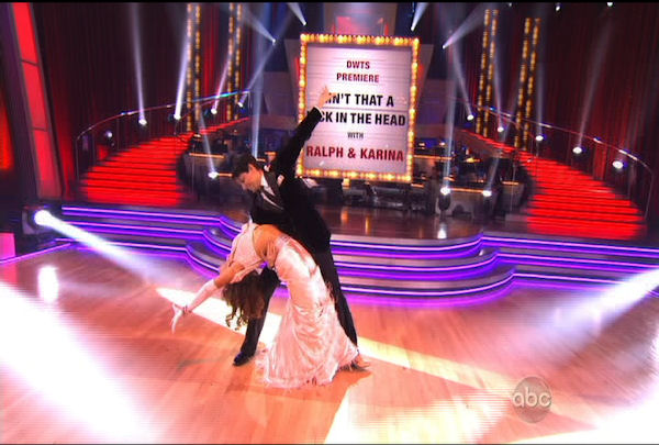 "<div class=""meta image-caption""><div class=""origin-logo origin-image ""><span></span></div><span class=""caption-text"">Ralph Macchio & Karina Smirnoff danced the Foxtrot during Week 1 of Season 12 of Dancing with the Stars. They received a score of 24.</span></div>"