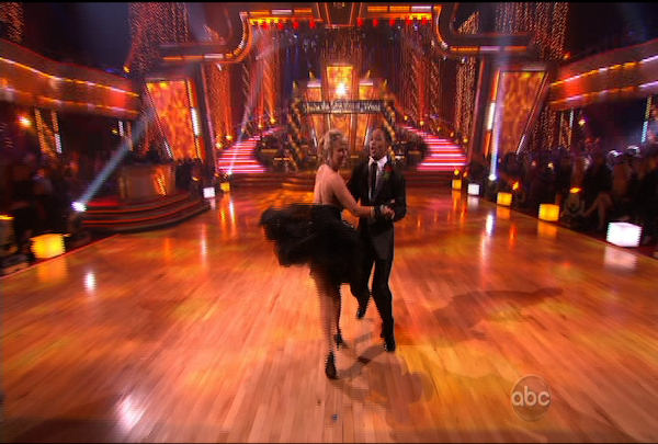 "<div class=""meta ""><span class=""caption-text "">Romeo Miller & Chelsie Hightower danced the Cha-Cha-Cha during Week 1 of Season 12 of Dancing with the Stars. They received a score of 19.</span></div>"