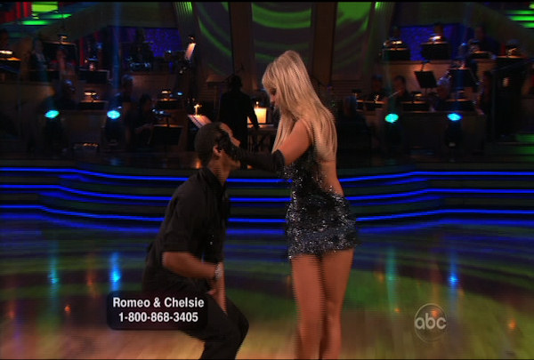Romeo Miller & Chelsie Hightower danced the Cha-Cha-Cha during Week 1 of Season 12 of Dancing with the Stars. They received a score of 19.