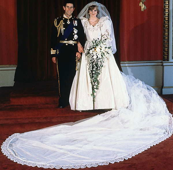 The formal wedding portrait of Prince Charles and Diana, Princess of Wales, taken at Buckingham Palace on July 29, 1981, after their marriage at St. Paul&#39;s Cathedral, London.  <span class=meta>(AP Photo)</span>